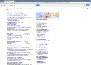 Top spot SEO ranking for Graphic Design Tampa